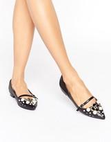Asos LILI Pearl Embellised Ballet Flats
