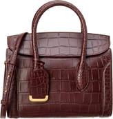 Alexander McQueen Heroine 30 Embossed Leather Satchel