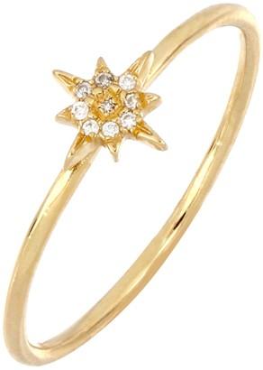Bony Levy 18K Yellow Gold Diamond Petite Northern Star Ring