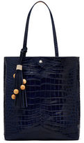 Elizabeth and James Eloise Magazine Crocodile-Embossed Tote Bag