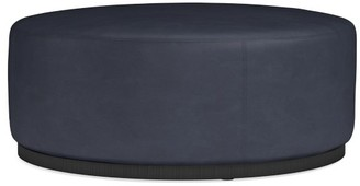 Williams-Sonoma Robertson Leather Ottoman