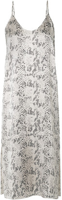 ATM Anthony Thomas Melillo Snake-print Silk-satin Midi Dress