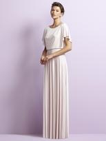 Jenny Yoo Bateau Neck Crepe Dress in Blush JY511