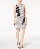 Betsey Johnson Floral-Appliqué Sheath Dress