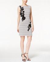 Betsey Johnson Floral-Applique Sheath Dress