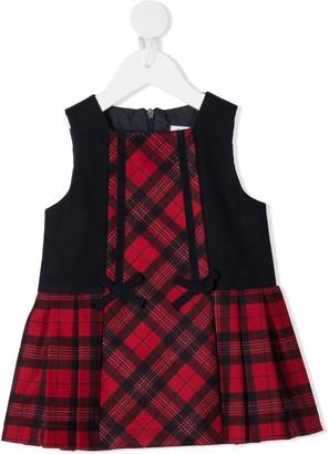 Patachou Sleeveless Tartan Print Dress