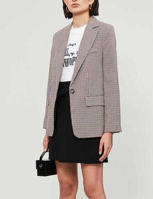 Maje Josina wrapover stretch-twill mini skirt