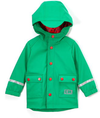Urban Republic Boys' Rain Coats GREEN - Green Button-Front Raincoat - Boys