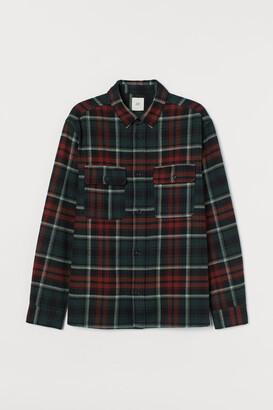 H&M Plaid Flannel Shirt - Green