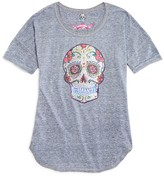 So Nikki... Girls' Floral Skull Appliquéd Tee - Sizes S-XL