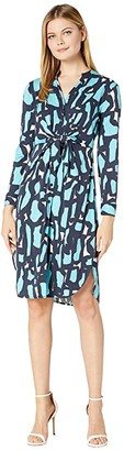 Nic+Zoe Vivid Giraffe Tie Dress (Multi) Women's Clothing