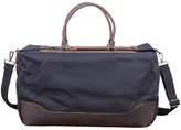 Touri Waxed Canvas Holdall In Charcoal Black