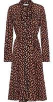 Diane von Furstenberg Andi Printed Mesh Shirt Dress