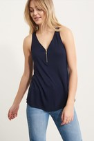 Dynamite Henley Tank Top with Zip