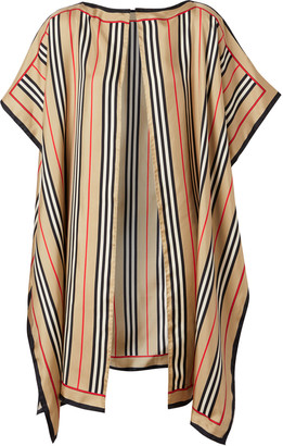 Burberry Icon Stripe Border Silk Cape