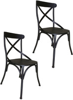 Pangea Rustique By  Set Of 2 Dylan Metal Dining Chair