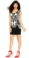 GUESS Dress, Sleeveless Scoop-Neck Paisley-Print Mini