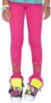 LittleMissMatched Cerise 'Hi Bye' Leggings