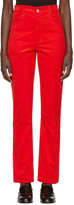 Martine Rose Red Corduroy Trousers