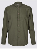 M&S Collection Brushed Cotton Plain Shirt