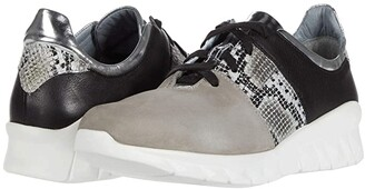 Naot Footwear Buzz (Light Gray Nubuck/Gray Cobra Leather/Soft Black Leather) Women's Shoes