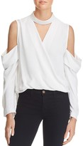 Bardot Sloane Cold Shoulder Wrap Top