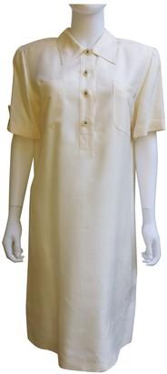 Pierre Cardin Ecru Silk Dresses
