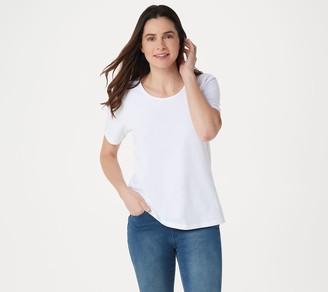 Denim & Co. Essentials Short-Sleeve Scoop-Neck Top