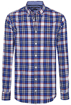 Tommy Hilfiger Amiston Check Long Sleeve Shirt, Blackberry Cordial/surf The Web