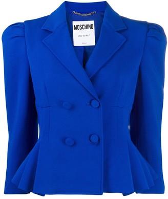 Moschino Puff-Sleeve Cropped Jacket