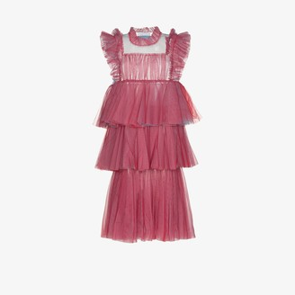 Viktor & Rolf Less Is More Tiered Tulle Dress