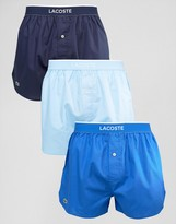 Lacoste Woven Boxers 3 Pack Multi