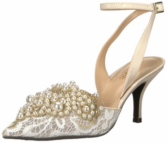 J. Renee Womens Desdemona Ivory/White Pearls 10 M (B)
