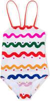 Stella McCartney wavy print swimsuit