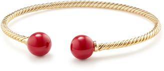 David Yurman Solari Bead Bracelet with 18K Gold and Red Enamel