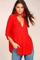 Lush Savvy Sweetheart Red Top