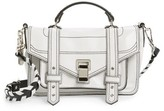 Proenza Schouler Tiny Ps1 Calfskin Leather Satchel With Novelty Shoulder/crossbody Strap - White