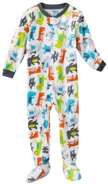 Carter's dinosaur microfleece footed pajamas - baby