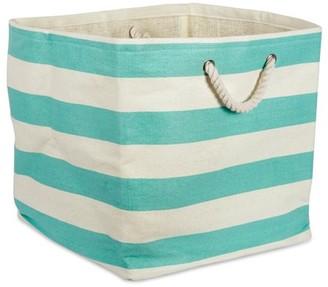 "DII Stripe Decorative Cube, 16"" x 16"" x 16"", Woven Paper, Multiple Colors"