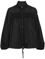 Moncler Ruffled Shirred Shell Jacket - Black