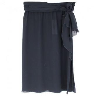 Valentino Navy Silk Skirt for Women