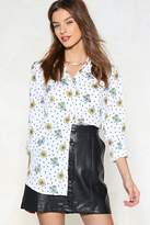 Nasty Gal Spring is in the Air Polka Dot Shirt