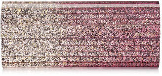 Jimmy Choo SWEETIE White Sand and Candyfloss Degrade Glitter Acrylic Clutch Bag