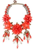 Gucci Crystal & Resin Floral Statement Necklace
