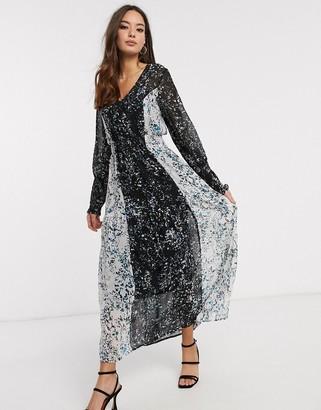 Vero Moda maxi dress in mix floral print