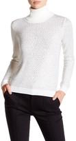 Alice + Olivia Jordana Rhinestone Wool Turtleneck Sweater
