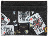 Dolce & Gabbana Black King Of Hearts Card Holder