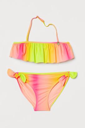 H&M Patterned flounced bikini
