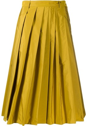 Aspesi High-Waisted Pleated Skirt