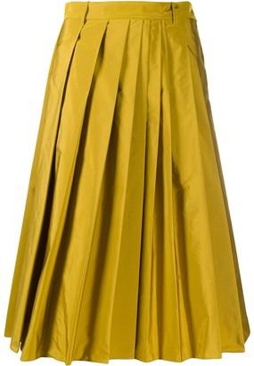 Aspesi High-Waisted Pleated Skirt